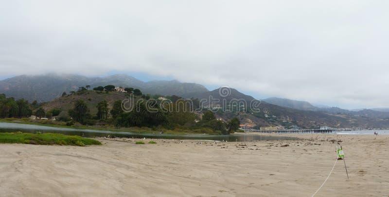Лагуна пляжа Malibu, птичий заповедник закрыла к публике стоковая фотография