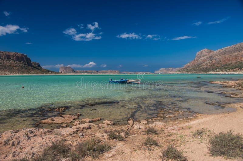 Лагуна пляжа Balos в Крите стоковые изображения