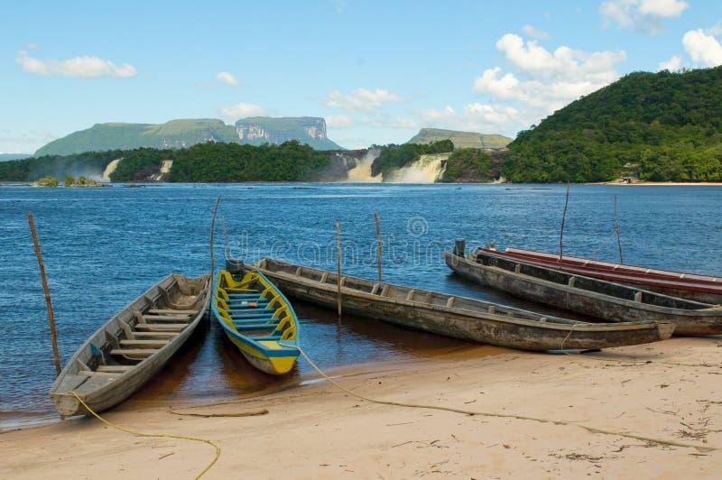 Лагуна Canaima, Венесуэла стоковые фотографии rf