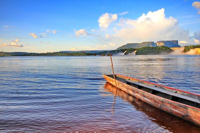 Лагуна Canaima, Венесуэла стоковое изображение rf