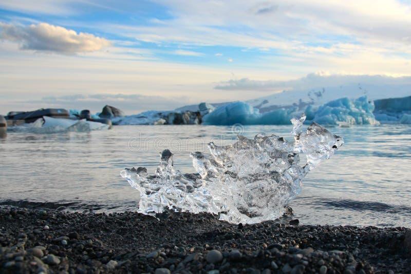 Лагуна Jokulsarlon ледника в Исландии стоковая фотография