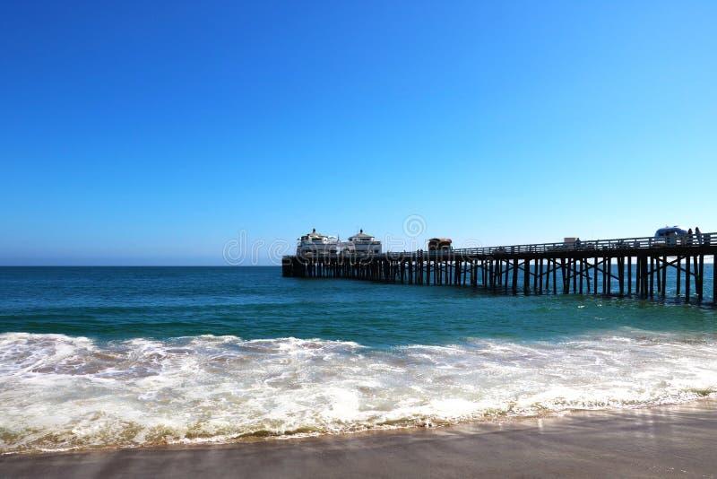 Лагуна Malibu заявляет пляж в Malibu, Калифорния, США стоковое изображение rf