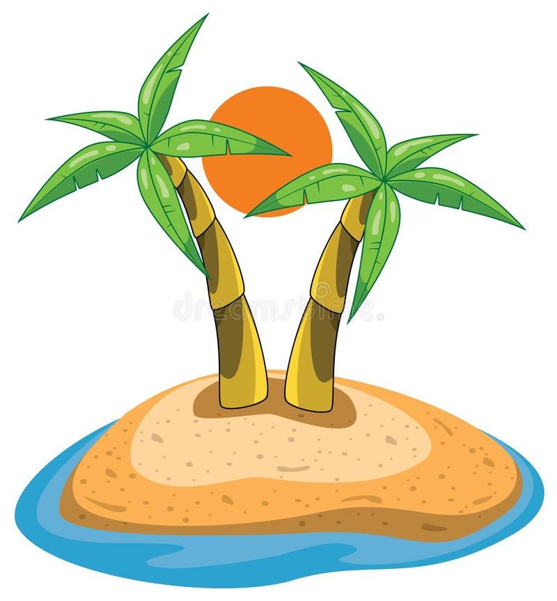 Download ладони острова иллюстрация вектора. иллюстрации насчитывающей остальные - 18389896