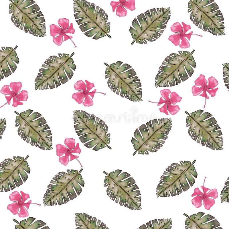 Ладонь выходит цифровая бумага, предпосылка лета акварели, текстура цветка акварели бесплатная иллюстрация