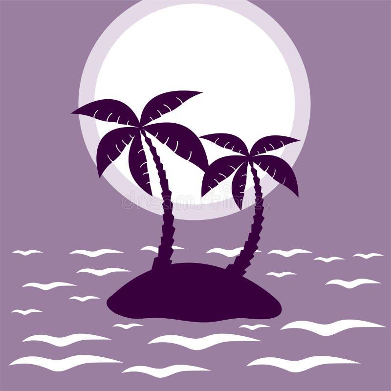 ладонь острова тропическая иллюстрация штока