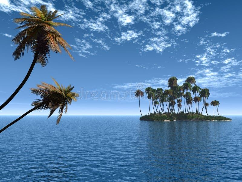 ладонь острова иллюстрация штока