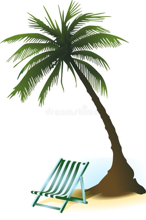 ладонь deckchair бесплатная иллюстрация