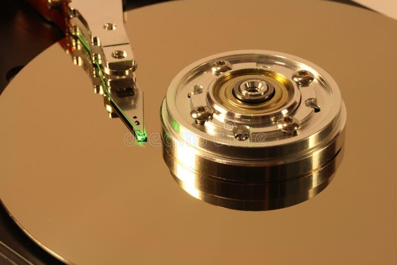 лазерный луч диска зеленый трудный вниз стоковое фото rf
