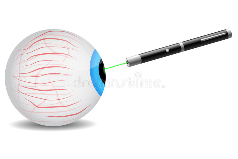 Лазер на глазе иллюстрация штока