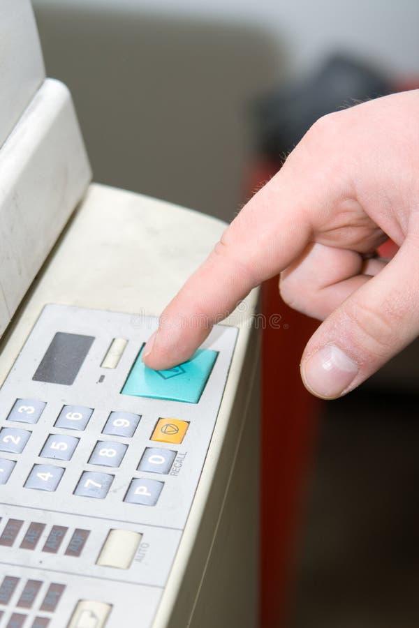 лазер факса копировальной машины стоковая фотография
