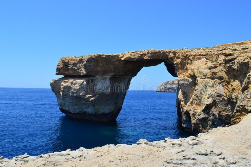 Лазурное окно в острове Gozo стоковые изображения rf