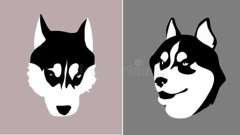 Лайка головной породы собаки сибирская для ввода в m иллюстрация штока