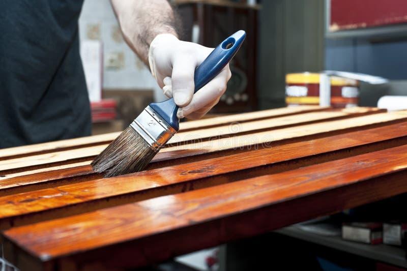 Лакировать деревянные доски стоковая фотография