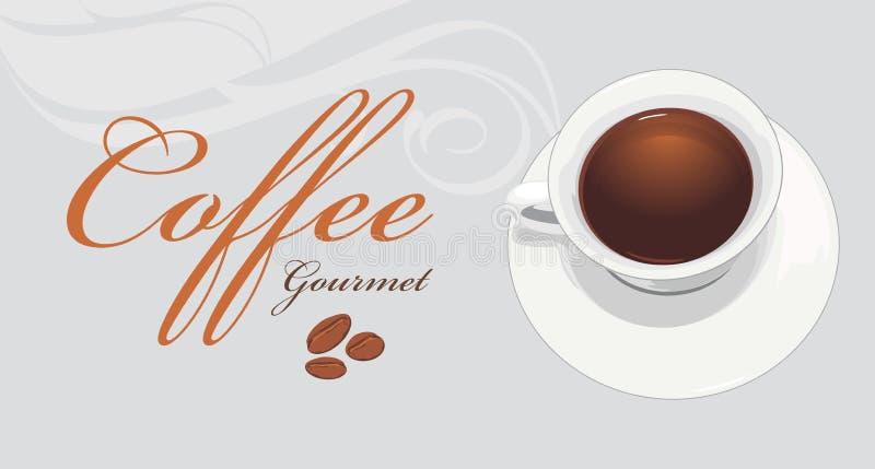 Лакомка кофе Ярлык для дизайна иллюстрация штока