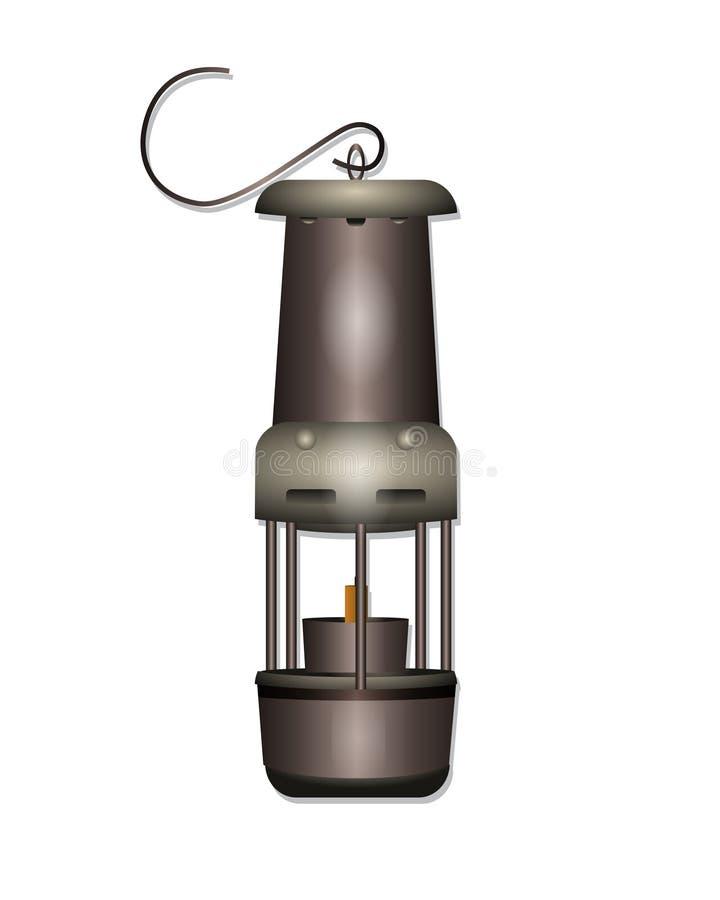 Лампа горнорабочей стоковая фотография
