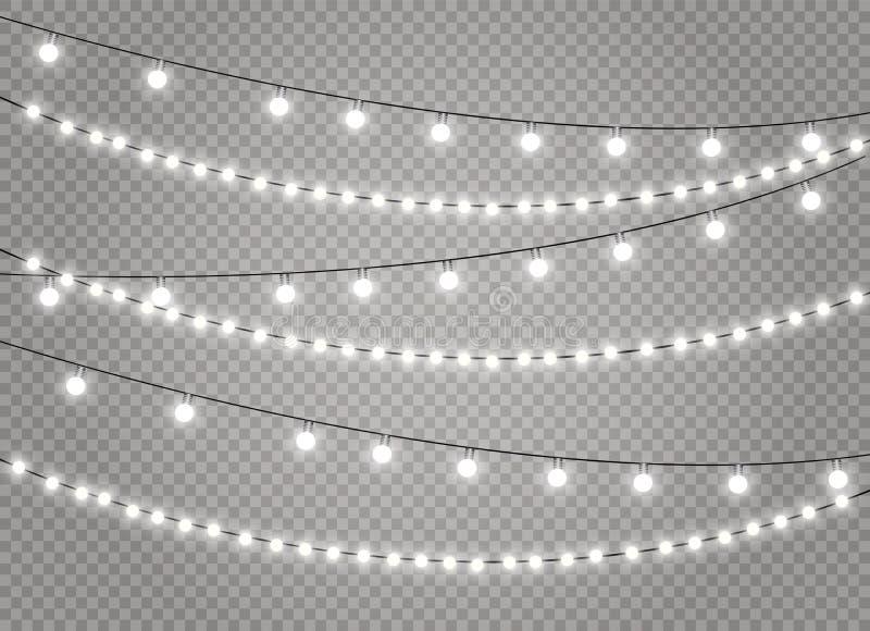 Лампа светов рождества иллюстрация штока