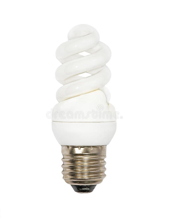 Лампа спасения энергии. Изолированный. стоковые изображения