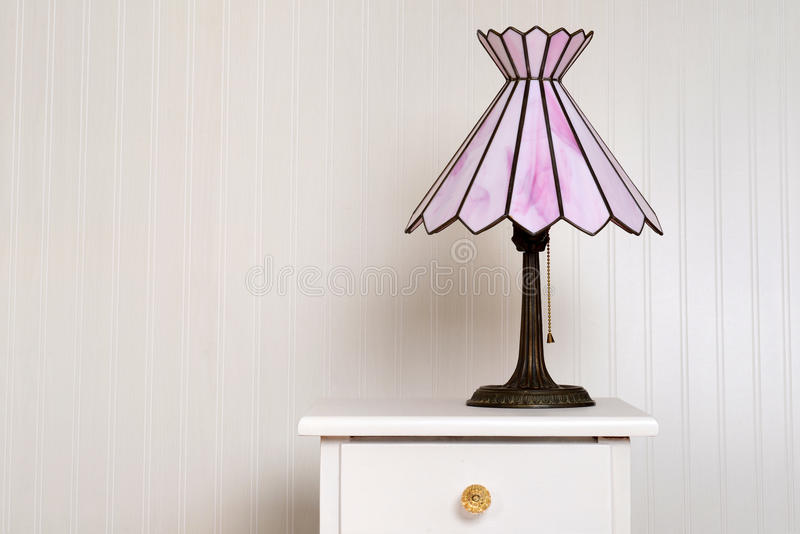 Лампа цветного стекла антиквариата стоковые фото