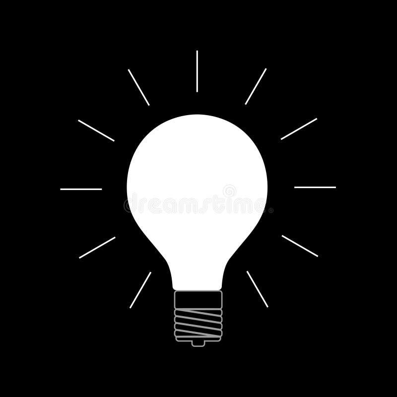 Электрическая лампочка в темноте иллюстрация вектора