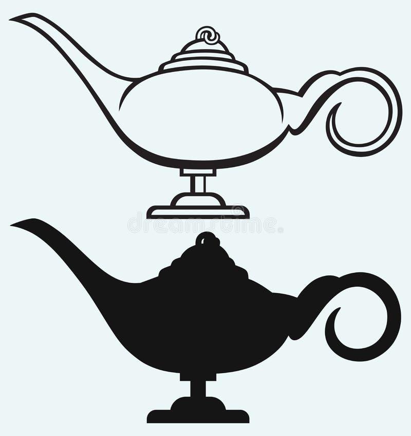 Лампа Aladdin иллюстрация штока