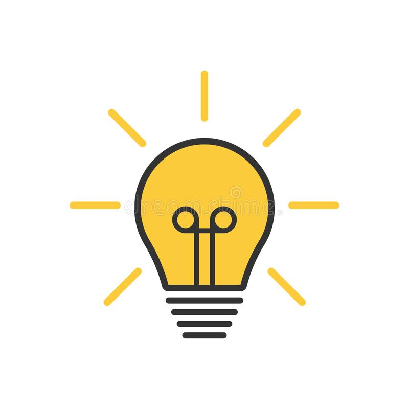 Лампочка лампа, лампа накаливания Иллюстрация векторного запаса Иллюстрация  вектора - иллюстрации насчитывающей : 165841846