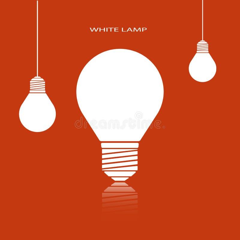 Лампы белой молнии иллюстрация штока