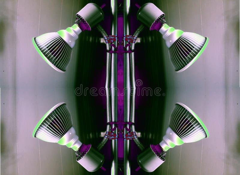 4 лампы в сером и пурпурном стоковое изображение rf