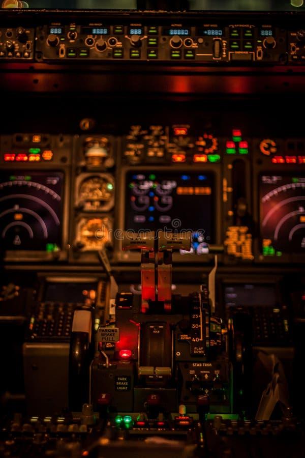 Лампы освещения кабины летчика стоковая фотография rf
