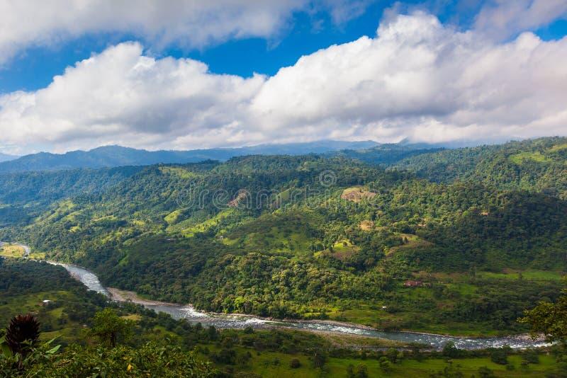 Ландшафты андийской зоны Choco стоковые изображения rf