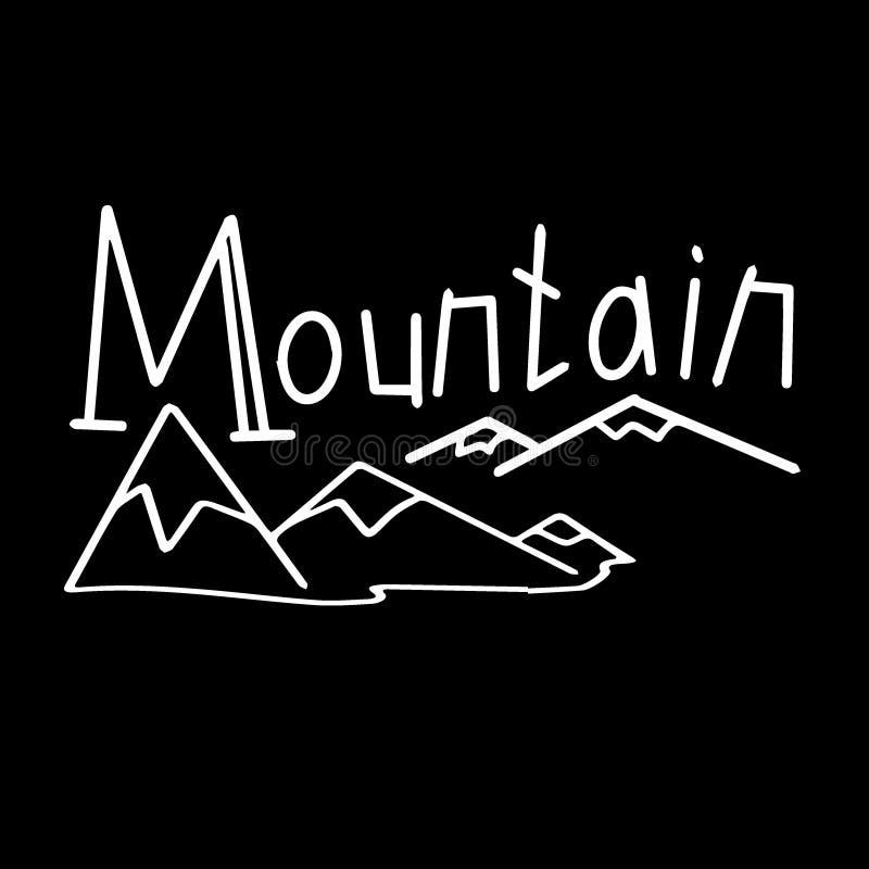 Ландшафты горы мультфильма установили с холмами пустыни иллюстрация вектора