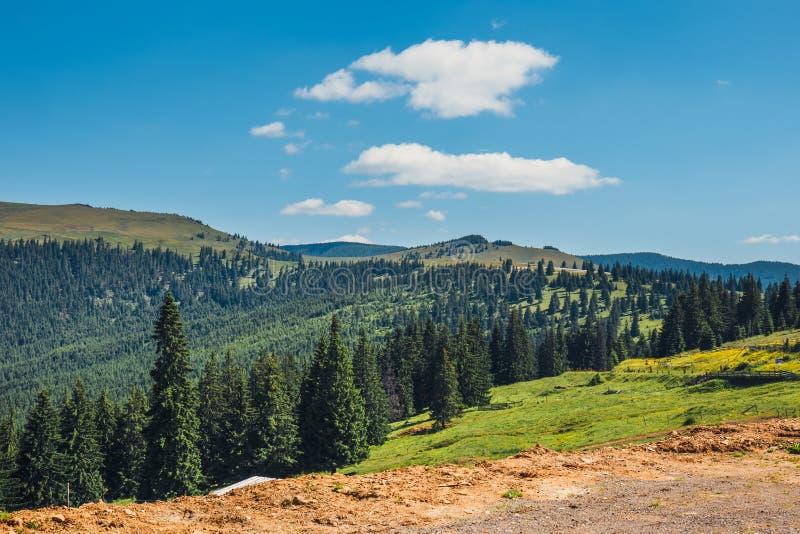 Ландшафты гор Rodna в восточных carpathians, Румынии стоковые изображения