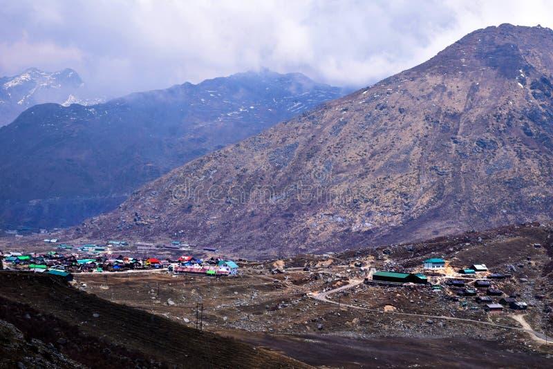 Ландшафты долины Nathang, восточного Сиккима, Индии стоковые фотографии rf