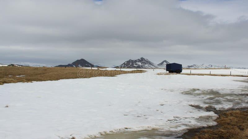 Ландшафты зимы успокаивают и ком стоковая фотография rf