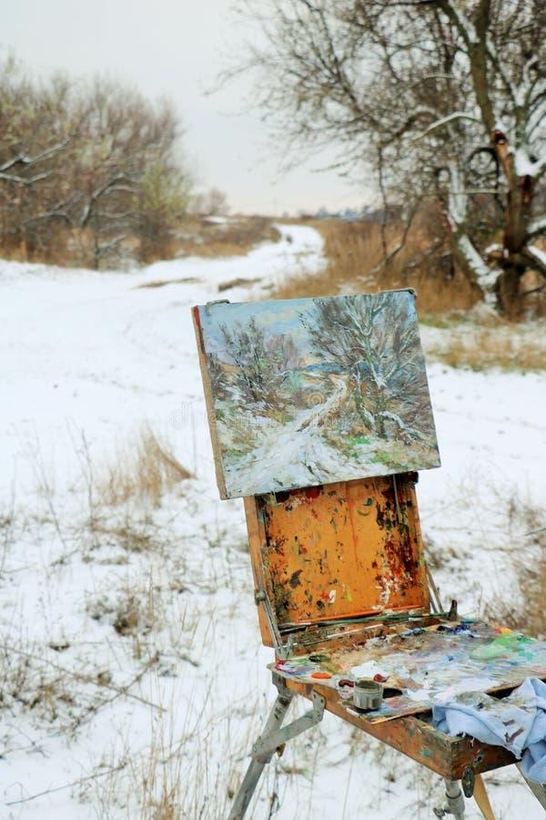 Ландшафты зимы бесплатная иллюстрация