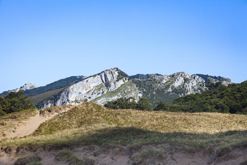 Ландшафты зоны Castro Urdiales стоковое изображение