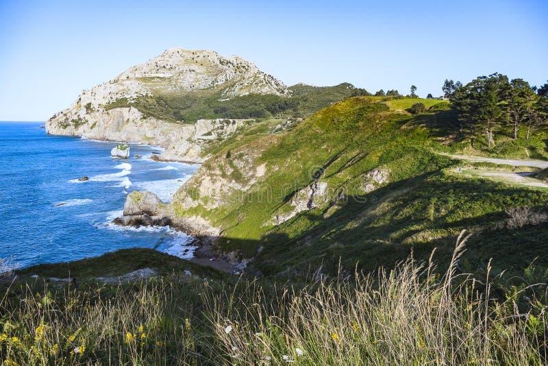 Ландшафты зоны Castro Urdiales стоковое фото rf