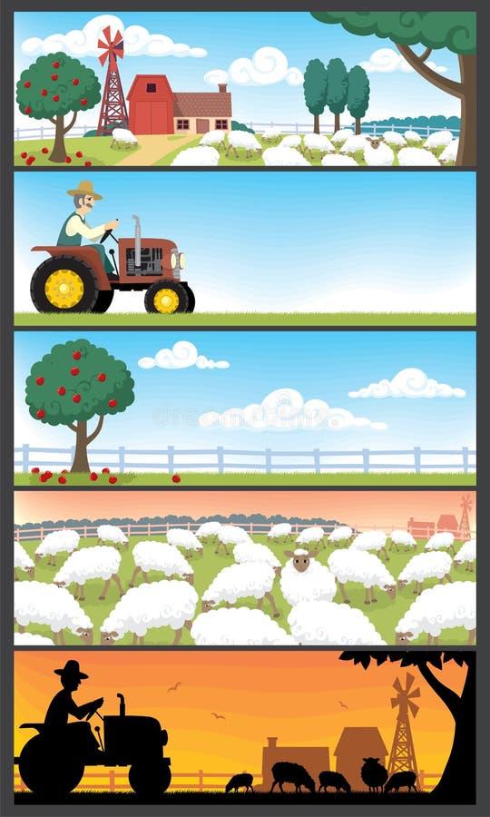 ландшафты фермы иллюстрация вектора