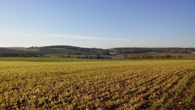 Ландшафты Франции: Jambville стоковые фото