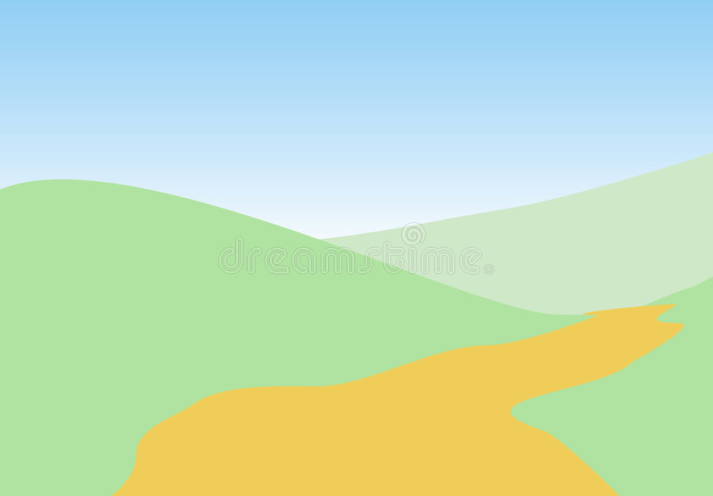 ландшафты иллюстрация вектора