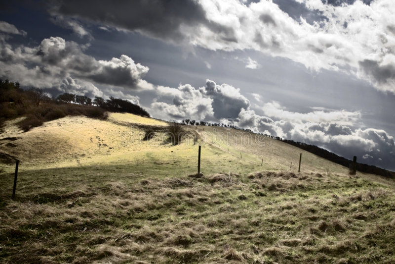 ландшафт бурный стоковое фото rf