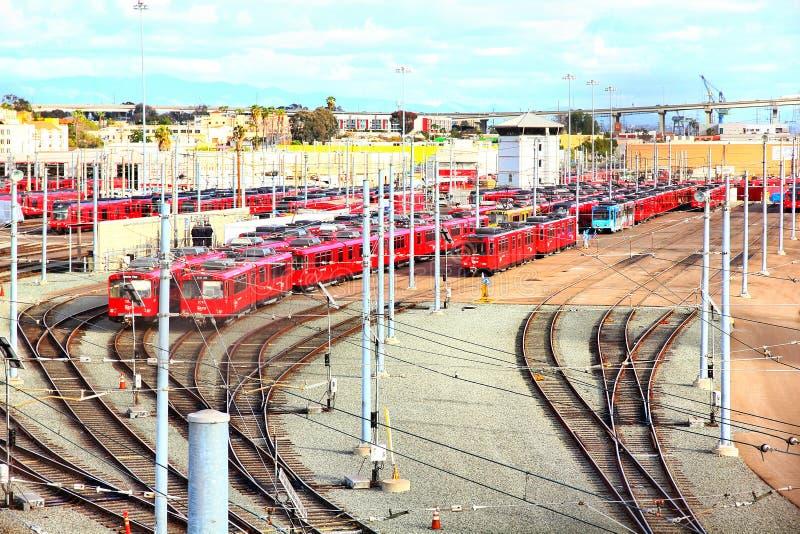 Ландшафт вагонетки Сан-Диего стоковые изображения
