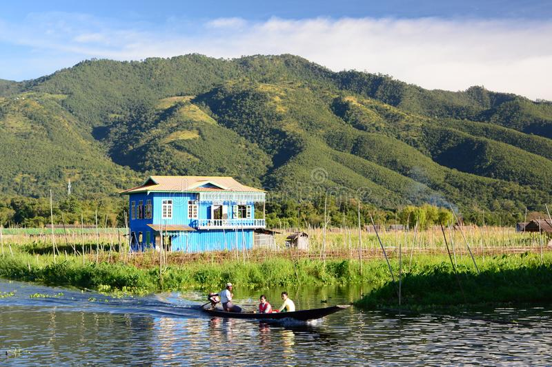 Ландшафт в деревне Maing Thauk Озеро Inle myanmar стоковое фото rf