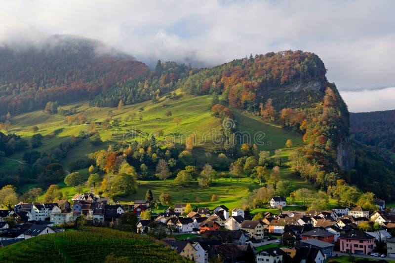 Ландшафт в Balzers, Лихтенштейне стоковое изображение rf