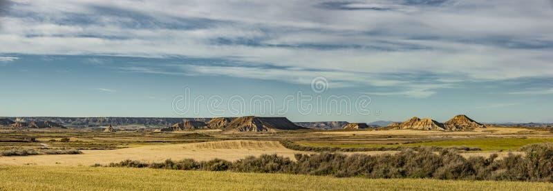 Ландшафт в Demi-пустыне Bardenas Reales стоковые изображения