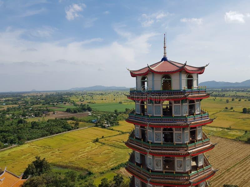 ландшафт в kanchanaburi стоковые изображения rf