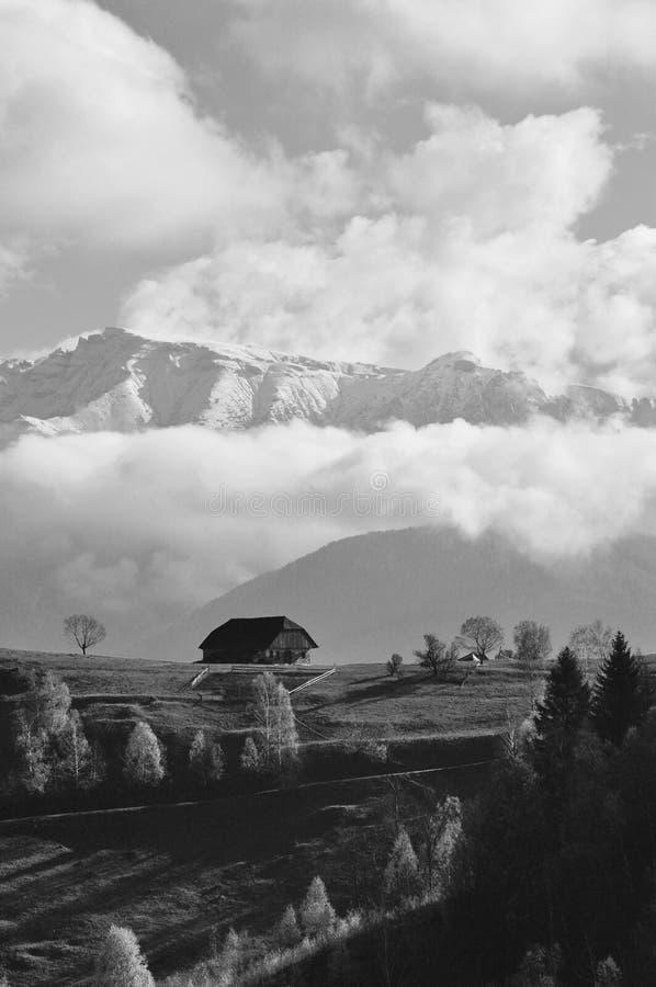 Ландшафт в Magura, Brasov стоковое изображение rf