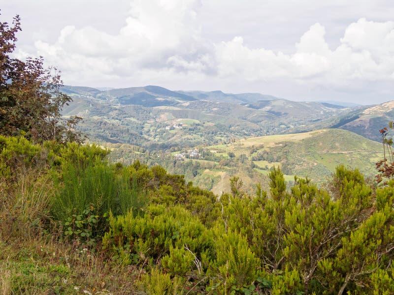 "Ландшафт галичанина - o ""Cebreiro стоковые фото"