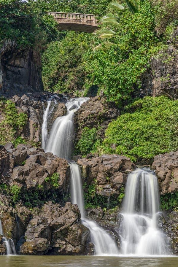 Ландшафт Гана Мауи 7 священный бассейнов стоковое изображение rf