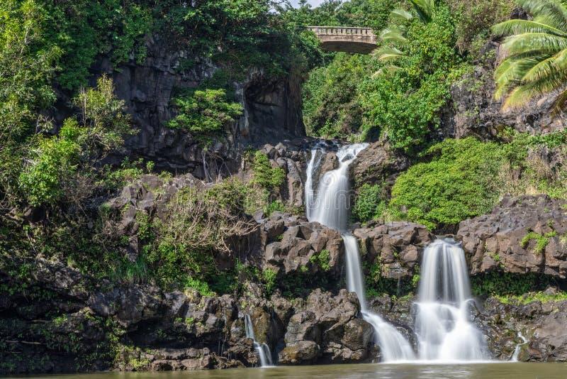 Ландшафт Гана Мауи 7 священный бассейнов стоковая фотография