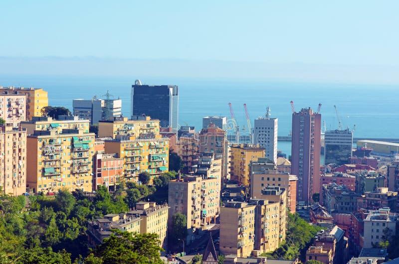 Ландшафт Генуи Италии стоковые фотографии rf